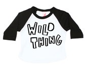 Wild Thing Baseball Tee, Toddler Tshirt, Baby Boy Gift, Hipster Kids Tee, Hand Lettering, Screenprinted Tshirt, Baby Girl Gift, Children