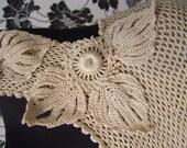 New crochet summerdress/beachdress, nude color, size US2