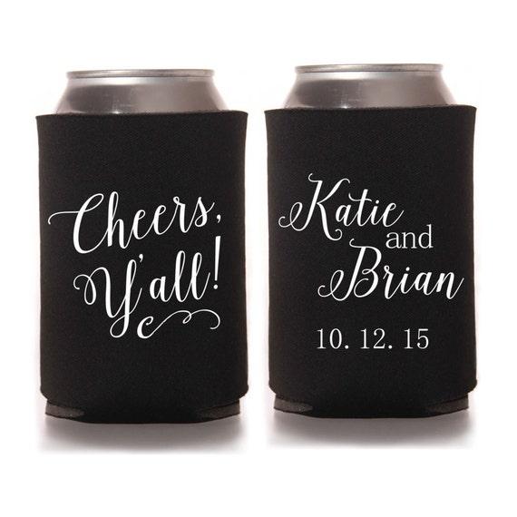 Custom Wedding Koozies: Personalized Wedding Can Coolers