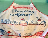 Grandma's Feeding Apron with pockets vintage apron for Baby's Goodies apron for Granny Nonnie Birdie Nana Mimi Mammaw MeeMaw MomMom