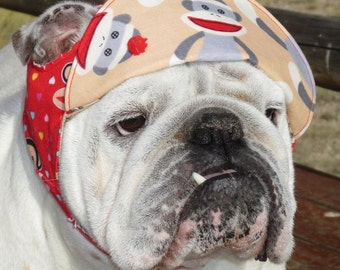 Order ENGLISH BULLDOG Sock MONKEY reversible Hat,English bulldog clothing, Bulldog, English Bulldog Hat