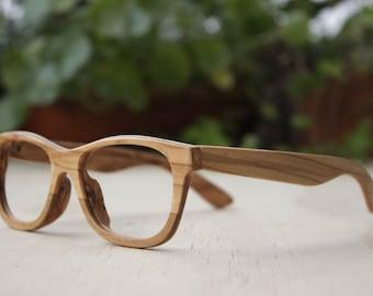 WALKER2012 olive wood TAKEMOTO handmade glasses 201410151214 Free shipping
