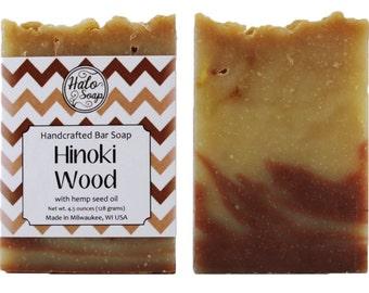 Hinoki Wood Handmade Bar Soap - Hemp Oil Soap - Vegan