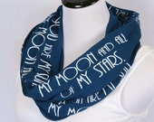 Valentine's Day scarf, You are my Sun, My Moon,
