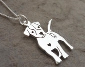 Sterling silver Jack Russell Pendant on Chain