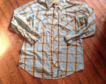 Mens Vintage Western Streets of Laredo Shirt 16 - 33