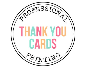 PROFESSIONAL PRINTING - Thank You Cards - Petite Party Studio