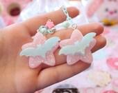 Fairy Kei Batty Stars Dangle Earrings