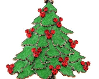 Green Christmas Tree Pin Brooch 1002171
