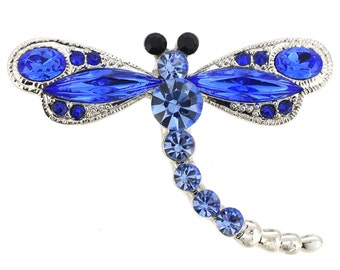 Sapphire Crystal Dragonfly Pin 1001972