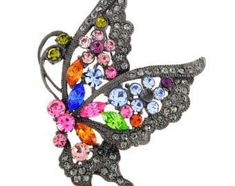 Multicolor Flying Butterfly Pin Brooch 1010281