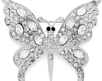 Crystal Butterfly Pin Brooch 1003662