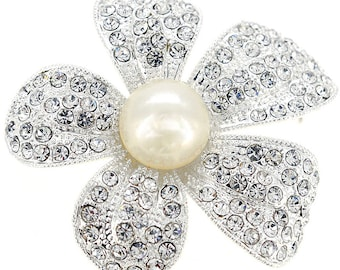 Crystal Flower Wedding Pin 1004031