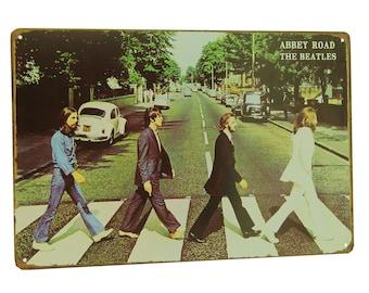 The Beatles Abbey Road Retro Metal Tin Sign 7000002