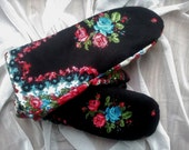 Russian Style Folk Floral Scarf Warm Mittens best of Winter Mittens