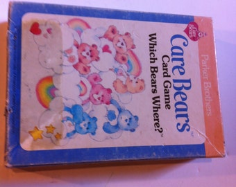 Vintage 1983 Care Bears Card Game