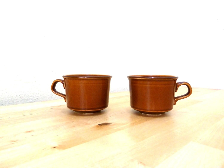 Vintage Brown Mugs / Small Mug / Coffee Cup / Wide Mouth Mug