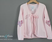 Sample SALE Sweetheart Pink Cardi 6Y ready to ship cardigan sweater sequin sparkle