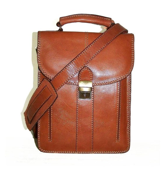 Caramel Leather Messenger Bag Leather Cross-body Purse Handbag Leather Shoulder Messenger Bag Elie size S