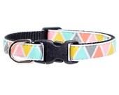 "Cat Collar - ""The Happy Camper"" - Geometric Print"