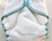 Deluxe One Size Organic Sherpa Fitted Diaper with Fold Down Rise Custom Order