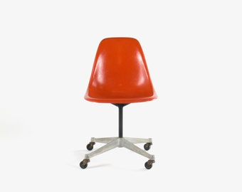 Eames for Herman Miller Aluminum Swivel Base Side Chair-PSCC