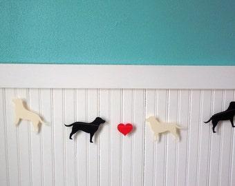 Labrador Love Paper Banner - Valentine's Day Decor - Choose Your Colors