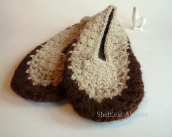 Handspun Alpaca Slippers Size 9 - 10