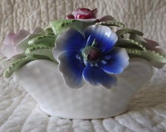 Vintage Royale Stratford English Bone China Staffordshire England Flowers Figurine