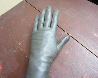Vintage Coco Brown Kid Leather Opera Gloves 60s New Old stock