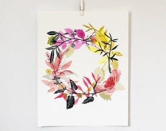 Energy Wreath Print