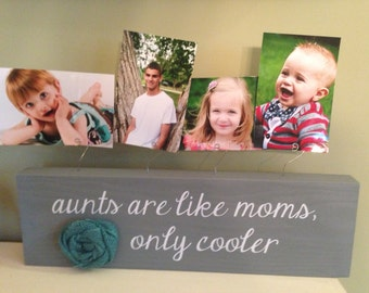 Aunt Gift Frame Gift For Aunt Personalized Picture Frame Board Aunt Wedding Baby Shower Housewarming Birthday Grandma Gift Wood Custom