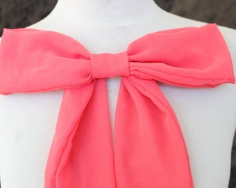 Cute chiffon bow applique