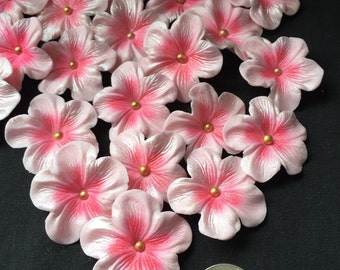 READY to go NOW Gumpaste Edilbe Cake Decorations Light Pink Gum Paste Blossoms 25 piece