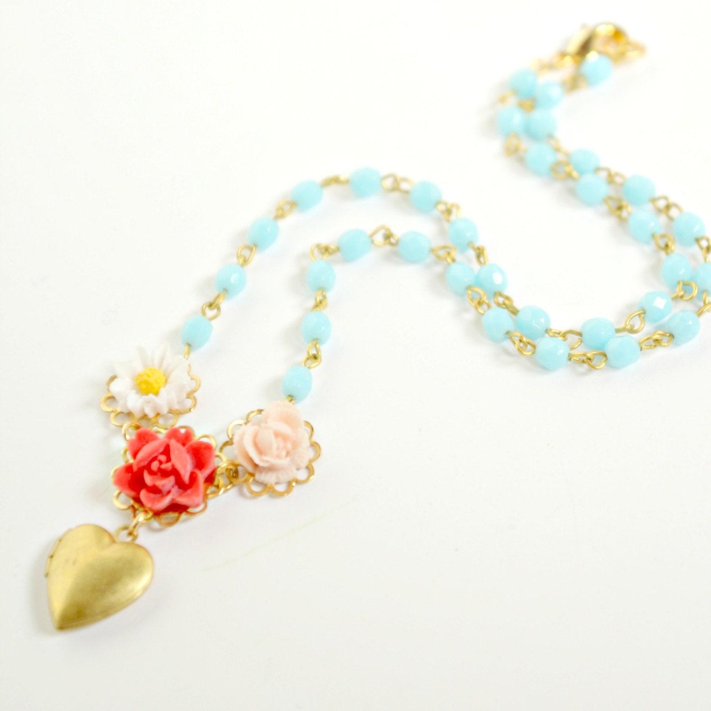 locket princess necklace children locket princess