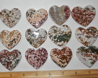Flat Polished Ocean Jasper Heart