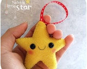 Little Star -  Felt Christmas Ornament