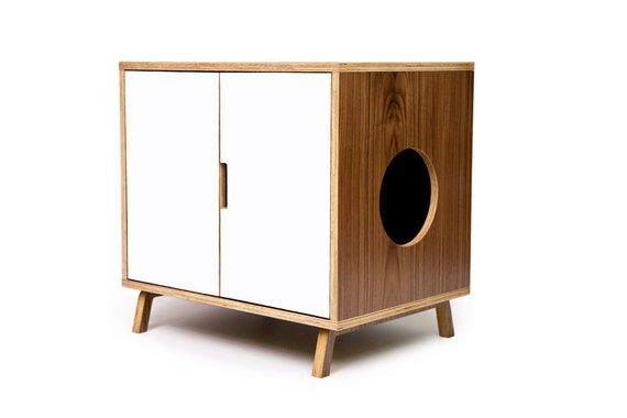 LAST ONE! ~ Litter Hideaway // Standard Cabinet // Mid Century Modern Pet Furniture // Cat Litter Box Cover // Pet House // Side Table