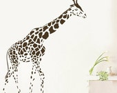 BIG 80inches giraffe  Animal kids nursery----Removable Graphic Art wall decals stickers home decor
