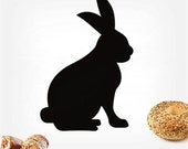 Rabbit bunny----Removable Graphic Art wall decals stickers home decor