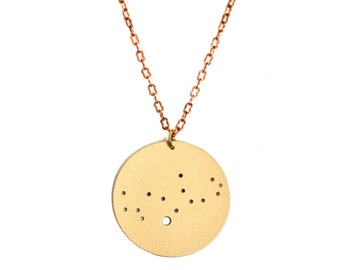 Virgo Gold Flash Constellation Pendant Necklace