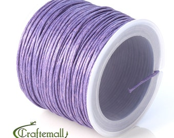 SALE 50% OFF: Medium purple waxed cotton cord - 1mm waxed cotton cord - 1 roll (25meters)