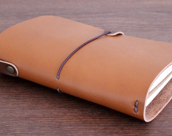 LEATHER COVER for Midori Travelers size - Field notes - Moleskine Cahiers