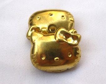 2pcs Hello Kitty Locket Photo Locket Raw Brass Findings Necklace Pendant p038