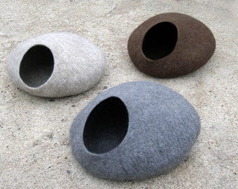 Cat cave/ cat bed / cat house / Grey/ beige/ brown/ natural + GIFT