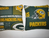 NFL Green Bay Packers Cornhole Bags Corn hole Corn Toss Baggo Set of 8
