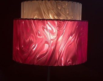 Mid Century Modern Lampshade - 2-tier shade is perfect for any vintage or modern decor