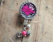 Badge reel Medical Assistant Retractable Badge Reel with BLING