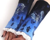 ORDER - Felted cuffs, romantic lace