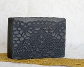 Activated Charcoal & Apricot oil, Sandalwood scented cold process Soap - Detox facial soap For Men and Woman - based on Greek Olive Oil